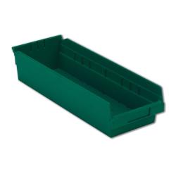 "17-7/8"" L x 6-5/8"" W x 4"" Hgt. Green Shelf Bin"