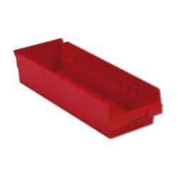 "17-7/8"" L x 6-5/8"" W x 4"" Hgt. Red Shelf Bin"