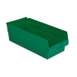 "17-7/8"" L x 8-3/8"" W x 6"" Hgt. Green Shelf Bin"