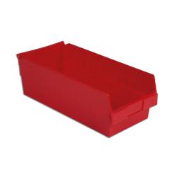 "17-7/8"" L x 8-3/8"" W x 6"" Hgt. Red Shelf Bin"