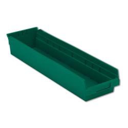 "23-5/8"" L x 6-5/8"" W x 4"" Hgt. Green Shelf Bin"