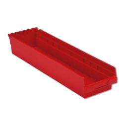 "23-5/8"" L x 6-5/8"" W x 4"" Hgt. Red Shelf Bin"