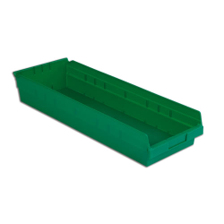 "23-5/8"" L x 8-3/8"" W x 4"" Hgt. Green Shelf Bin"