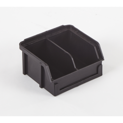 "3.5"" x 4"" x 2"" ESD-Safe Parts Bin with Divider"