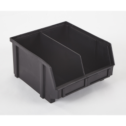 "9.3"" x 8.8"" x 5"" ESD-Safe Parts Bin with Divider"