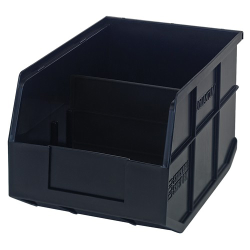 "12"" L x 8-1/4"" W x 7"" Hgt. Quantum® Black Stackable Shelf Bin"