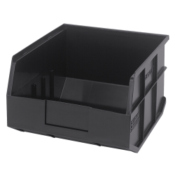 "12"" L x 11"" W x 7"" Hgt. Quantum® Black Stackable Shelf Bin"