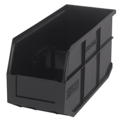 "14"" L x 6"" W x 7"" Hgt. Quantum® Black Stackable Shelf Bin"