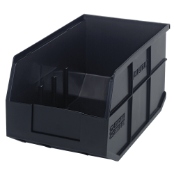 "14"" L x 8-1/4"" W x 7"" Hgt. Quantum® Black Stackable Shelf Bin"