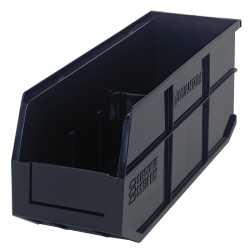 "18"" L x 6"" W x 7"" Hgt. Quantum® Black Stackable Shelf Bin"