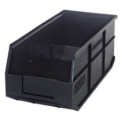 "18"" L x 8-1/4"" W x 7"" Hgt. Quantum® Black Stackable Shelf Bin"