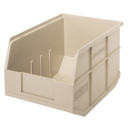 "12"" L x 8-1/4"" W x 7"" Hgt. Quantum® Ivory Stackable Shelf Bin"
