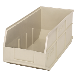 "18"" L x 8-1/4"" W x 7"" Hgt. Quantum® Ivory Stackable Shelf Bin"