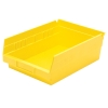 "Yellow Akro-Mils® Shelf Bin - 11-5/8"" L x 8-3/8"" W x 4"" Hgt."