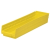 "Yellow Akro-Mils® Shelf Bin - 23-5/8"" L x 6-5/8"" W x 4"" Hgt."