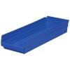 """23-5/8"""" L x 8-3/8"""" W x 4"""" Hgt. Blue Akro-Mils® Shelf Bin"""