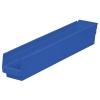 """23-5/8"""" L x 4-1/8"""" W x 4"""" Hgt. Blue Akro-Mils® Shelf Bin"""
