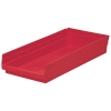 "Red Akro-Mils® Shelf Bin - 23-5/8"" L x 11-1/8"" W x 4"" Hgt."
