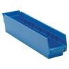 "17-7/8"" L x 4-1/8"" W x 4"" Hgt. Blue Quantum® Economy Shelf Bin"