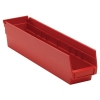 "17-7/8"" L x 4-1/8"" W x 4"" Hgt. Red Quantum® Economy Shelf Bin"