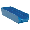 "17-7/8"" L x 6-5/8"" W x 4"" Hgt. Blue Quantum® Economy Shelf Bin"