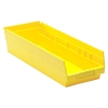"17-7/8"" L x 6-5/8"" W x 4"" Hgt. Yellow Quantum® Economy Shelf Bin"