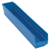 "23-5/8"" L x 4-1/8"" W x 4"" Hgt. Blue Quantum® Economy Shelf Bin"