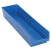 "23-5/8"" L x 6-5/8"" W x 4"" Hgt. Blue Quantum® Economy Shelf Bin"