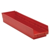 "23-5/8"" L x 6-5/8"" W x 4"" Hgt. Red Quantum® Economy Shelf Bin"