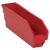 "11-5/8"" L x 2-3/4"" W x 4"" Hgt. Red Quantum® Economy Shelf Bin"