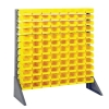 "Single Sided Rack with 12 Rails & 96 Yellow Bins 7-1/2""L x 4-1/8""W x 3""H"