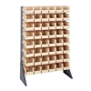 "Single Sided Rack with 16 Rails & 48 Ivory Bins 11-7/8""L x 5-1/2""W x 5""H"