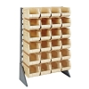 "Single Sided Rack with 12 Rails & 24 Ivory Bins 14-3/4""L x 8-1/4""W x 7""H"