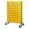 "Double Sided Rack with 12 Rails & 192 Yellow Bins 7-1/2""L x 4-1/8""W x 3""H"