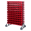 "Double Sided Rack with 12 Rails & 192 Red Bins 7-1/2""L x 4-1/8""W x 3""H"