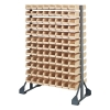 "Double Sided Rack with 12 Rails & 192 Ivory Bins 7-1/2""L x 4-1/8""W x 3""H"
