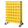 "Double Sided Rack with 16 Rails & 96 Yellow Bins 11-7/8""L x 5-1/2""W x 5""H"