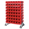 "Double Sided Rack with 16 Rails & 96 Red Bins 11-7/8""L x 5-1/2""W x 5""H"