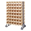 "Double Sided Rack with 16 Rails & 96 Ivory Bins 11-7/8""L x 5-1/2""W x 5""H"