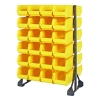 "Double Sided Rack with 12 Rails & 48 Yellow Bins 14-3/4""L x 8-1/4""W x 7""H"