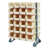 "Double Sided Rack with 12 Rails & 48 Ivory Bins 14-3/4""L x 8-1/4""W x 7""H"