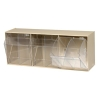 """23-5/8"""" L x 9-1/2"""" W x 7-3/4"""" Hgt. Ivory Tip Out Storage System with 3 Bins"""