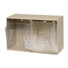"""23-5/8"""" L x 13-7/8"""" W x 11-7/8"""" Hgt. Ivory Tip Out Storage System with 2 Bins"""