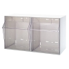 """23-5/8""""W x 13-7/8""""L x 11-7/8""""H White Tip Out Storage System with 2 Bins"""