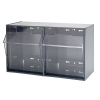 """23-5/8""""W x 13-7/8""""L x 11-7/8""""H Gray Tip Out Storage System with 2 Bins"""