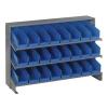 "Bench Rack 12"" D x 36"" W x 21"" Hgt. with 24 Blue Bins 11-7/8"" L x 4-1/8"" W x 4"" Hgt."