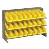 """Bench Rack 12"""" D x 36"""" W x 21"""" Hgt. with 24 Yellow Bins 11-7/8"""" L x 4-1/8"""" W x 4"""" Hgt."""