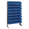 "Single Sided Rack 12""D x 36""W x 60""H with 64 Blue Bins 11-7/8""L x 4-1/8""W x 4""H"