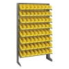 "Single Sided Rack 12""D x 36""W x 60""H with 64 Yellow Bins 11-7/8""L x 4-1/8""W x 4""H"