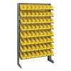 """Single Sided Rack 12"""" D x 36"""" W x 60"""" Hgt. with 64 Yellow Bins 11-7/8"""" L x 4-1/8"""" W x 4"""" Hgt."""